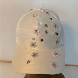Flowers and Pearls Adjustable Cap